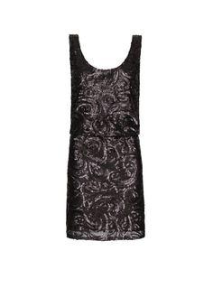 vestido de tirantes con lentejuelas decorativas creando ondas, cintura elástica, escote en la espalda y forro interior. ss13