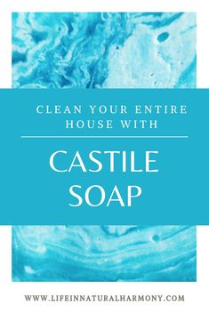 Replace chemical-based household products with non-toxic castile soap. Check out how one bottle of castile soap can eliminate many toxic products from being used in your home Natural cleaning products