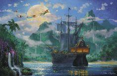 James Coleman - Peter Pan - Moonrise Over Pirate's Cove