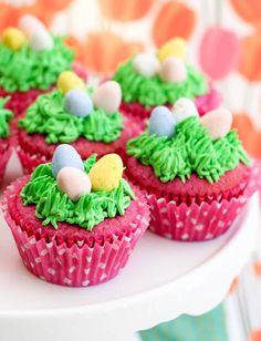 Raspberry Easter Egg Cupcakes