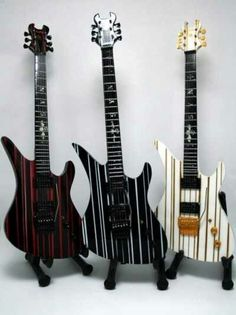 Synyster Gates of Avenged Sevenfold's guitars.