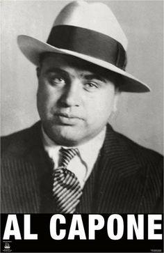 Mobster    Al Capone: http://20smassacreparty.tumblr.com/post/15902231959/click-through-for-al-capones-fbi-profile-in