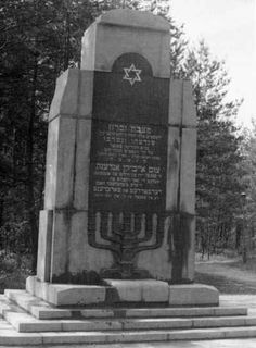 Monument to the perished in Ponary.
