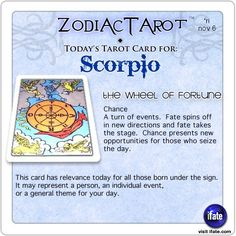 Click on ZodiacTarot for zodiac tarot cards for each sign. You'll like exploring through the super-awesome horoscope and astrology wisdom and info over here at iFate.com