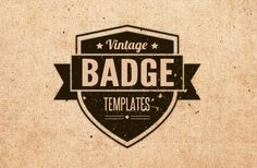 FREE vintage badge templates. Only majorly exciting.