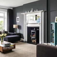 Grey living room | Sixties house | PHOTO GALLERY | Ideal Home | Housetohome.co.uk
