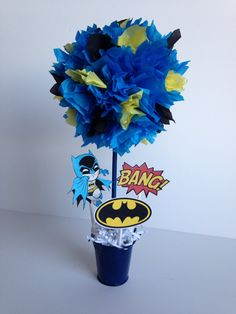 Batman Super Hero birthday party decoration  omg it's bat man :D
