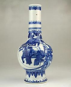 Superb Rare Antique 17/18thC Chinese Qing Kangxi Blue & White Porcelain Vase #1 | Antiques, Asian/Oriental Antiques, Chinese | eBay!