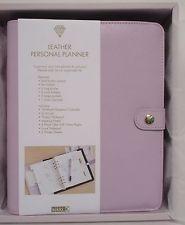 New Kikki K A5 Textured Leather Personal Planner Lilac Lavender Organizer Agenda
