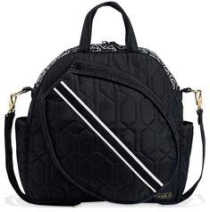 Cinda B Ladies Tennis Tote Bags - Jet Set Black