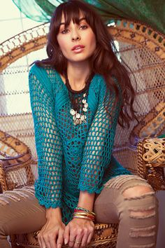 www.freebirdcanada.com  You may not be jaded but this beautiful Jade sweater is a perfect way to brighten up your fall wardrobe. It hugs your curves flawlessly with it's open knit and beautiful details!
