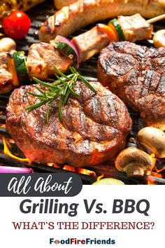 There's BBQ, and there's grilling. They are both performed outdoors, often on the same equipment, but they are very different things despite the terms being used interchangeably. Outdoor Grill Area, Outdoor Grilling, Grilling Recipes, Bbq, Outdoors, Meals, Barbecue, Barrel Smoker, Meal
