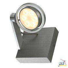Wand-/Deckenleuchte KALU II LED 6 Alu gebürstet/LED weiß