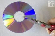 How to separate the layers of a DVD -goes with birdbath CD Mosaic project.