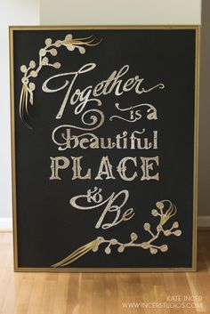 Chalk Typography, Lettering, Golden Glitter, Chalk It Up, Sign Sign, Winter Wedding Inspiration, Freedom Of Speech, Wedding Signs, Paper Cutting