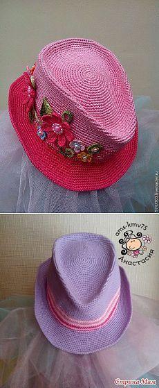 """Шляпа """"а-ля мужская"""" описание мужской шляпы (вартанты цвета разные)."""