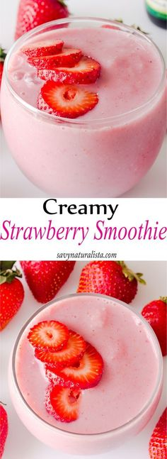 Strawberry Smoothie (Single Serving) Hey all you Savvy Naturalista's! Today were making an easy Strawberry Smoothie, single serving style! I know it's been a while since I have created any food… Single Serve Smoothie Recipe, Easy Smoothie Recipes, Easy Smoothies, Fruit Smoothies, Smoothie Diet, Single Serving Recipes, Drink Recipes, Dessert Recipes, Strawberry Banana Smoothie