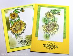 Stippled Flowers Cards (Flower: The Stamp Connection; Text: Unknown.)
