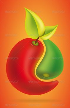 Chili Yang  GraphicRiver Hot ying yan chilies making a fruit concept for  food or sauce 3c8b40bcd