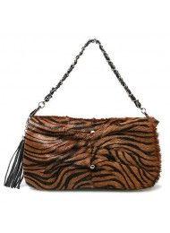 kleinburgerij の luxe-paardenhaar kwastje detail schouder messenger bag