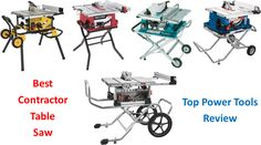 Top Power Tools Review: The Best Contractor Table Saw for 2020 Cabinet Table Saw, Jobsite Table Saw, Contractor Table Saw, Portable Table Saw, Tool Table, Aluminum Table, Generators, Power Tools, Top