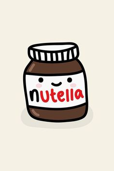 Pot de nutella en fond d'ecran So cute