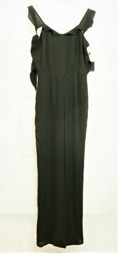 de1da607ba1 Forest Lily Sleeveless Black Jumpsuit With Tie Back Size 8 uk DD 11