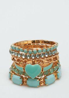 Heart Gem Linked Bracelets | Bracelets | rue21