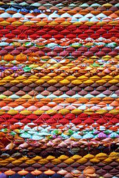 Handwoven Rag Rug - sunny yellow orange