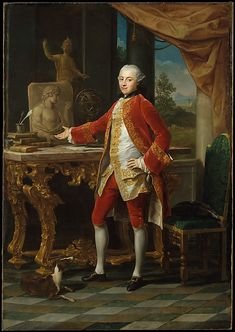 """""""Portrait of a Young Man"""" by Pompeo Batoni (1760-1765) at the Metropolitan Museum of Art, New York -"""