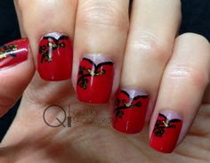 Cheongsam (or qipao) nails for the Chinese New Year! More here http://wp.me/p3LvmO-hz