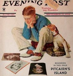Norman Rockwell. Boy Gazing At Cover Girls. // I AM A CHILD (children in art history)