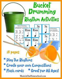 Kindergarten Music, Teaching Music, Preschool Music, Primary Teaching, Drums For Kids, Bucket Drumming, Music Lessons For Kids, Music Activities, Movement Activities