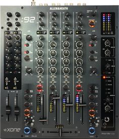Allen & Heath Xone:92 awesome 4 band EQ 6 Channel solid build and slick sound.. Love this mixer