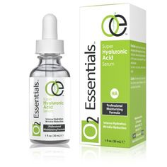 O2 Essentials  Hyaluronic Acid Serum for Skin with Vitamin C  E  100 Pure Anti Aging Moisturizer 1 fl Oz * Visit the image link more details. (Note:Amazon affiliate link)