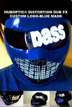 Robot Custom LED DJ Mask Dub for edm lightshow masks by HUBOPTIC, $175.00