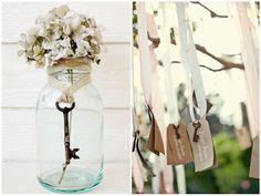 wedding decor vintage keys #wedding #decoration