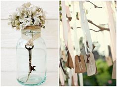 wedding decor vintage keys #wedding #decoration