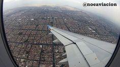 """05/10/2012 Noe Castillo """"@interjet_mx Vista de la Ciudad de México a la izquierda el AICM, Derecha el Cerro de la Estrella #destinointerjet"""""""