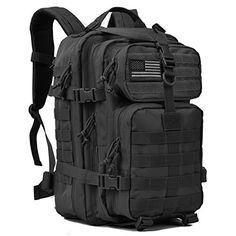 7a36ed2e1ac1 Military Tactical Backpack Large Army 3 Day Assault Pack Molle Bug Out Bag  Backpacks Rucksacks for Outdoor Sport Hiking Camping Hunting 40L Black -  Survival ...