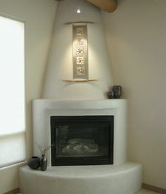 Square firebox with rounded chimney