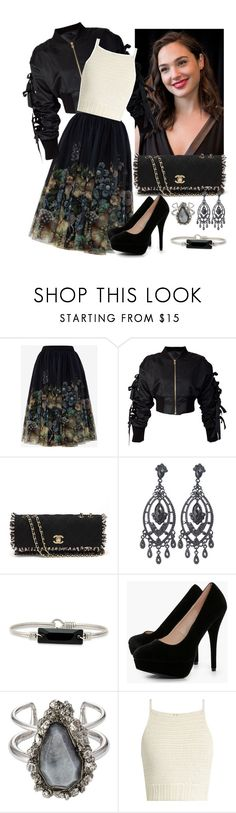 """""""Black Bomber Jacket"""" by sherrysrosecottage-1 ❤ liked on Polyvore featuring Ted Baker, storets, Chanel, Hudson Collection, Boohoo, Alexander McQueen and SHE MADE ME"""