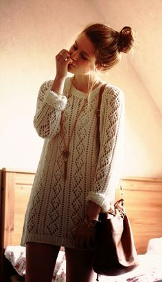 Adorable comfy and cozy long sweater fashion