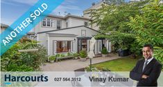 Vinay sold our home in Mount Victoria in May He managed the sale of our beloved home superbly. He was totally professional in every aspect of the process