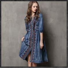d1bcef13d1e Summer Style Vestidos 2015 Yuzi Vintage Cotton Dress Half Sleeve V-Neck  A-Line All Match Drawstring Loose Women Dresses