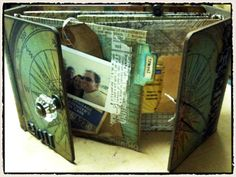great vacation log idea...Tim Holtz is too cool for school!