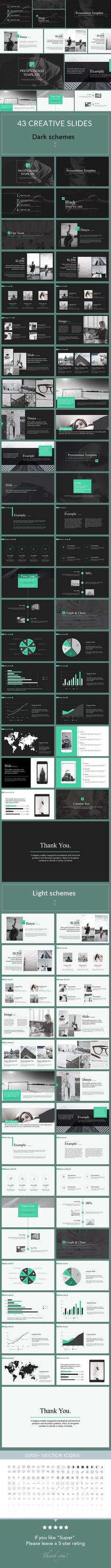 Mark - Clean PowerPoint Presentation Template - Creative PowerPoint Templates