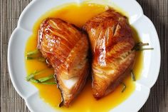 Roasted cod with champagne and honey, photographed by John Carey