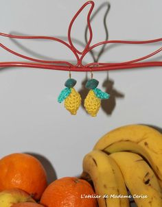 BO-citron4 Crochet, Lemon, Boucle D'oreille, Locs, Jewerly, Ganchillo, Crocheting, Knits, Chrochet
