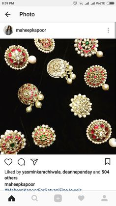 Antique Jewellery, Jewellery Designs, Gold Jewellery, Choker Necklaces, Gold Earrings, Chokers, Nose Rings, Ear Rings, Traditional Indian Jewellery